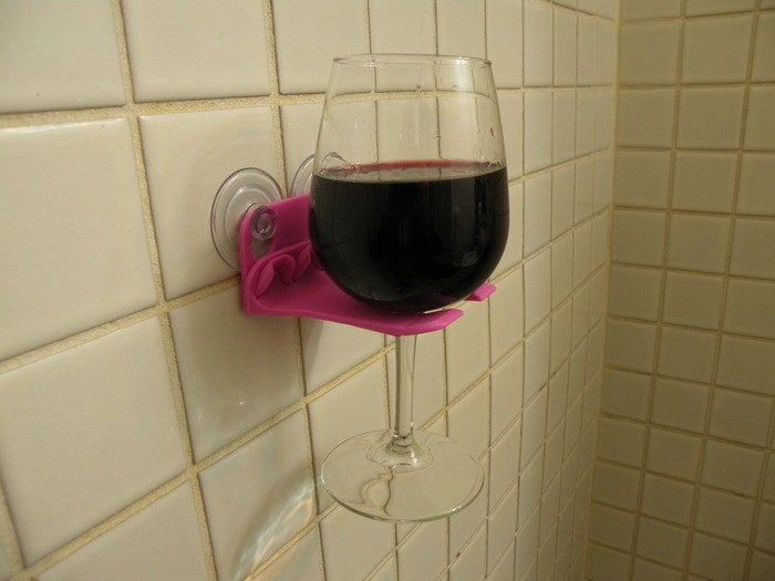 Because the only thing better than shower beer is shower wine.