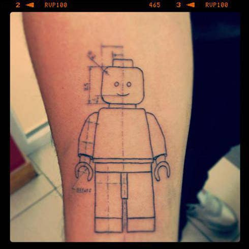 32 lego tattoos that will thrill your inner child a happy lego lovin blueprint malvernweather Choice Image