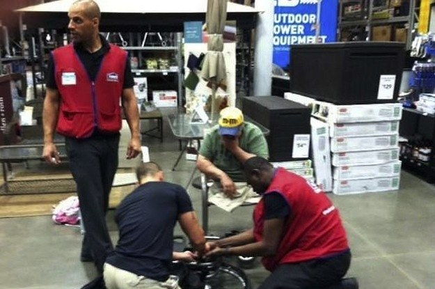 lowes employees decided to fix this veterans whee 2 11948 1405518527 7_dblbig lowe's employees decided to fix this veteran's wheelchair after the