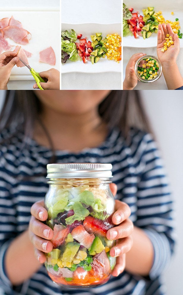The trick to getting your kids to eat more salad? Letting them build their own. (And a fun, colorful presentation never hurts, either.) Get the instructions.