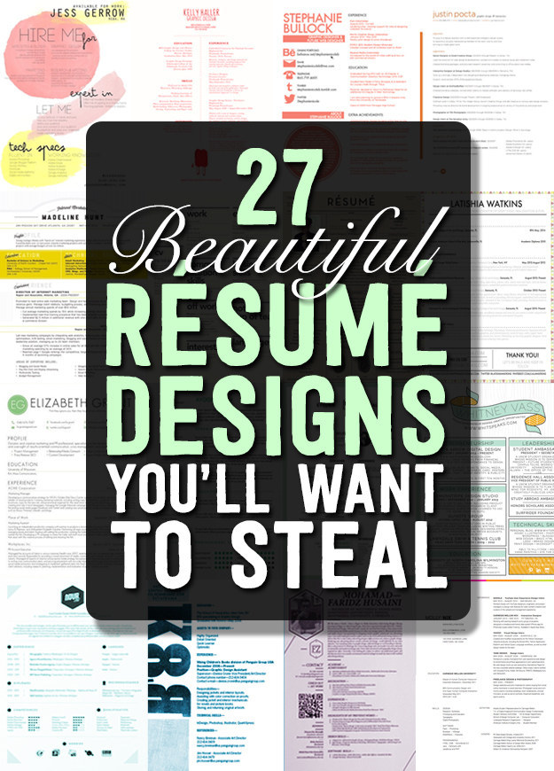 27 beautiful r u00e9sum u00e9 designs you u0026 39 ll want to steal