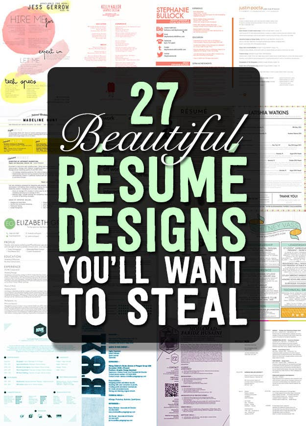27 Beautiful Rsum Designs Youll Want To Steal