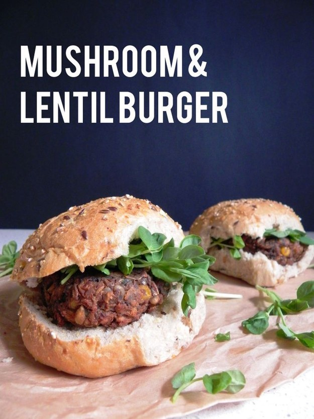 Vegetarian Lentil Burger Recipe — Dishmaps