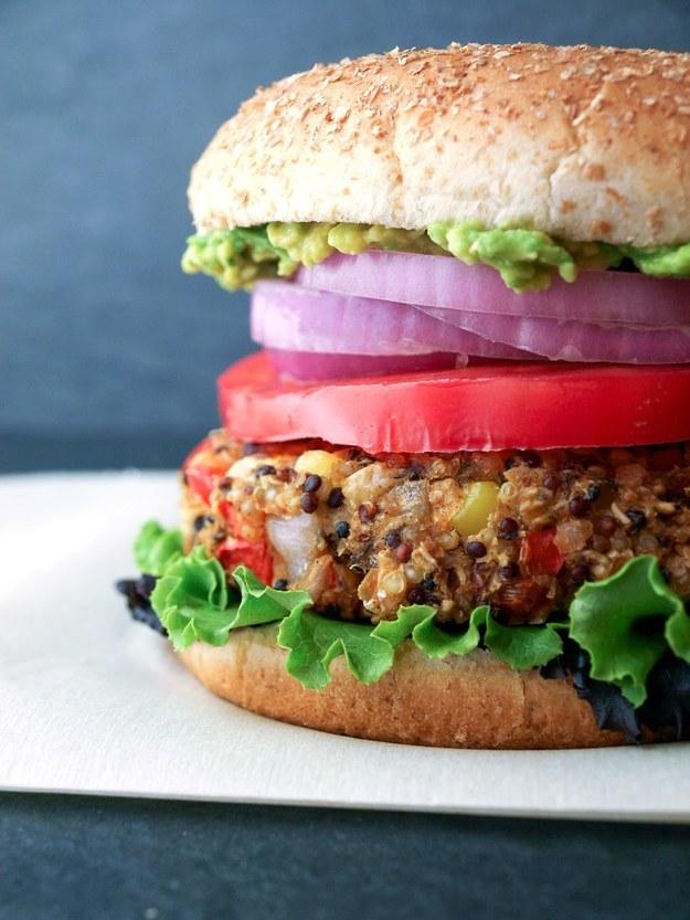 Quinoa & White Bean Veggie Burger