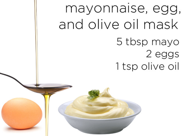 how to make a hair mask with eggs and mayonnaise
