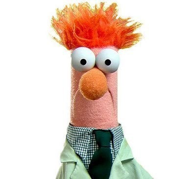 What I think he is: Vaguely resembles a person. He does spend a lot of time in the lab suffering abuse (Kermit or someone should really read him his worker's comp rights) at the hands of Dr. Honeydew and as the result of an experiment, could have been stuffed into a beaker.HENCE THE NAME, BEAKER! Got it. Could also be:A Popsicle stick.A Pencil.