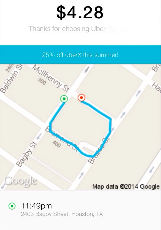 This Uber Receipt For A Drunk 90-Foot Ride Might Actually Be Real ...