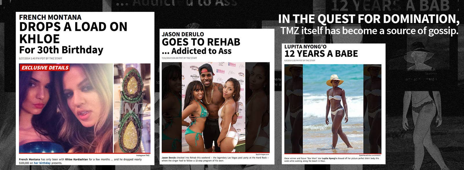 How can you view cast bios on TMZ?