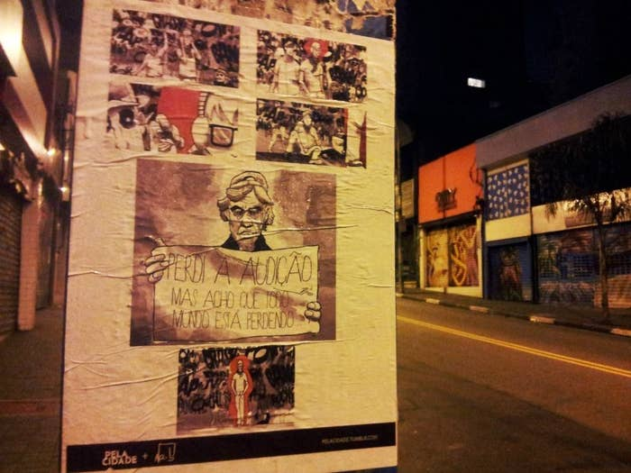 Já o perfil Pela Cidade posta esporadicamente intervenções urbanas de reflexão.