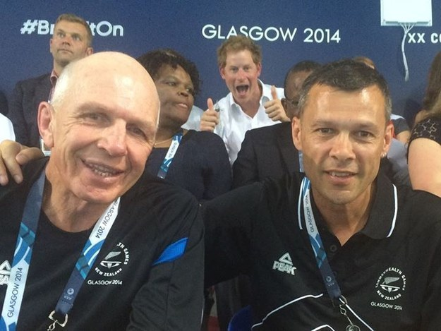 Prince Harry Photobombs Athletes At The Commonwealth Games