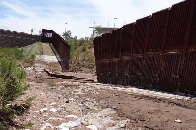 Storm Topples U.S.-Mexico Border Fence In Arizona