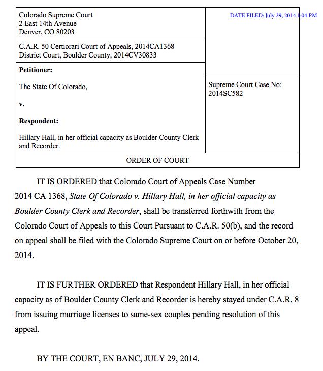 Colorado Supreme Court Orders Boulder Clerk To Stop ...
