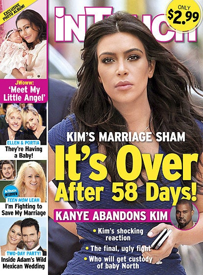 Shockingly, Kim is already having marital problems, InTouch Weekly claims.