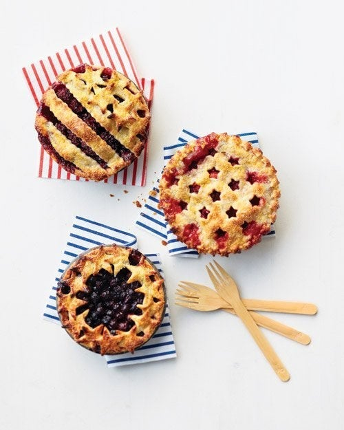 Fourth of July Summer Berry Pies