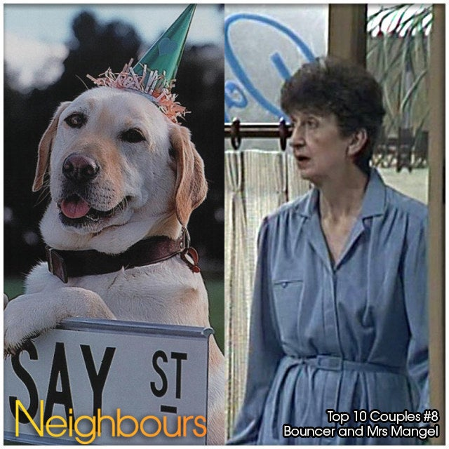 It's a busy body old lady and a legendary dog whose famous dream sequence of marrying Rosie the sheepdog was definitely Neighbours' weirdest ever story line. That's all that needs to be said!