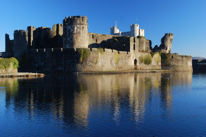 "Meaning: ""Caerphilly Castle""Location: Caerphilly, CaerphillyFun fact: The lakes surrounding the castle, which was built during the 13th century, are artificial- they were built as a defense system."