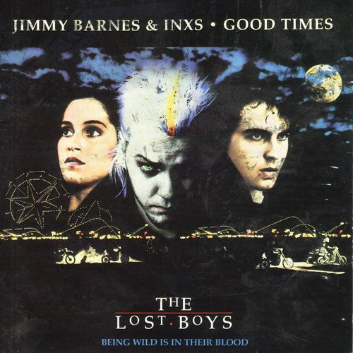 """""""Good Times,"""" the Harry Vanda / George Young composition which was first released as a single by their band, the Easybeats, in 1968 – may not be the first song that comes to mind when one thinks of The Lost Boys, but it's likely the one that's been heard by the most people, having been the only charting single from the film's soundtrack in the U.S. Although it wasn't what you'd call a smash, hitting only #47 on the Billboard Hot 100, not only did it serve to keep INXS in the pop culture consciousness between their Listen like Thieves and Kick albums, but it also provided Barnes with a sufficient raise in his Stateside profile to pull his first – and, unfortunately, really his only – substantial solo hit in America, """"Too Much Ain't Enough Love."""""""