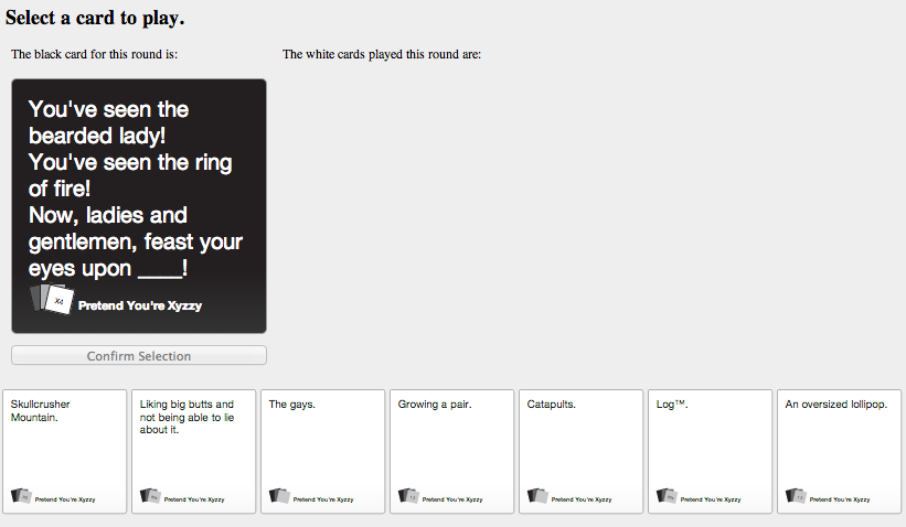 You Can Now Play Cards Against Humanity Online