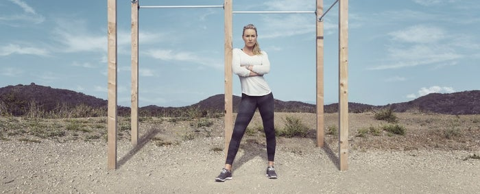 Skier Lindsey Vonn in a new Under Armour ad.