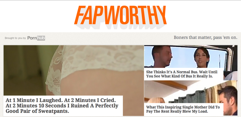 Here Is The Porn Version Of Upworthy No One Asked For