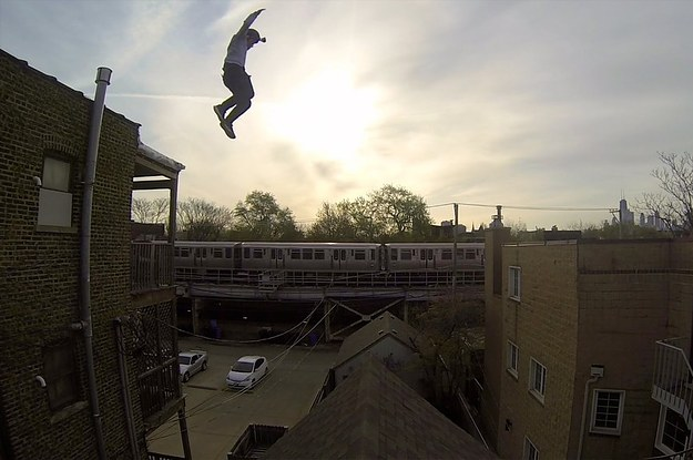 This Gopro Footage Of A Guy Jumping Off A Building Is