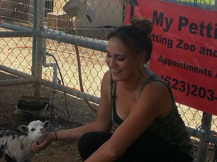 """We don't have a male [sheep] that could get her pregnant right now,"" she said to Arizona's 12 News. But they do have a pygmy goat named Michael, who apparently had a thing for a certain sheep."