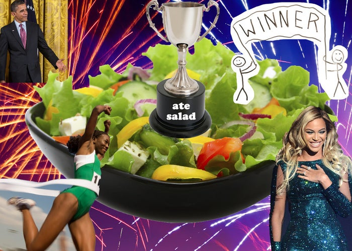"""You are literally the healthiest person in the world. Gwyneth Paltrow saw you eating the salad and thought, """"I'll never live up to that."""""""
