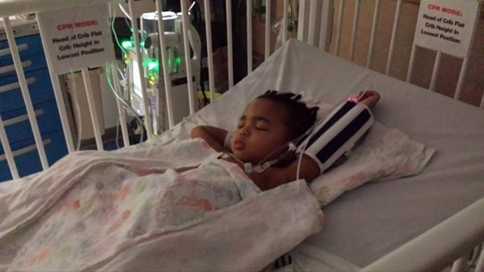 """On Facebook, Kayden's father Kevin said the surgery was """"the first step that had to be made before Kayden [could] take his first step."""""""