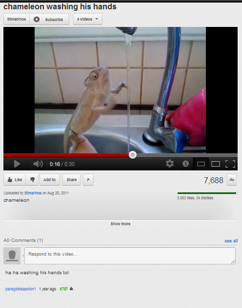 Note: This was, at the time, the only comment left on this video. It had 6,787 likes.