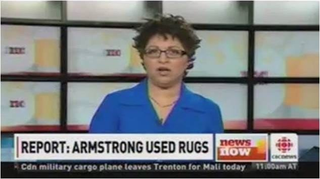 CNBC News caption in wake of Lance Armstrong's admission to Oprah Winfrey that he used illegal substances.