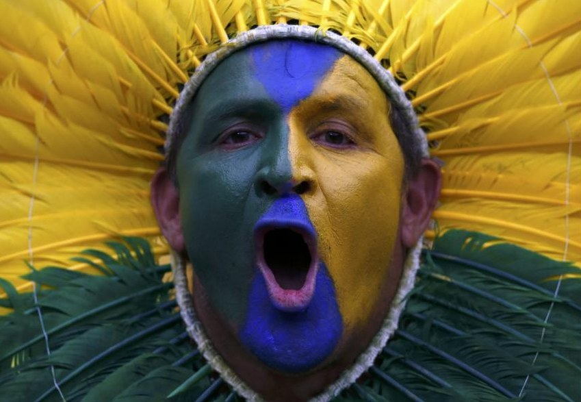 Heartbreaking Pictures Of Brazil Fans Before And After Their World Cup Loss
