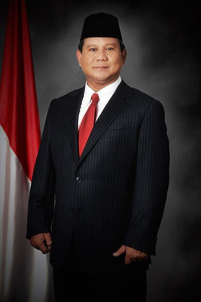 Born in Jakarta, 17 October 1951, Prabowo is an Indonesian businessman, politician, and former General Lieutenant of Indonesia National Armed Force (TNI)Prabowo's grandfather was the founder of Bank Negara Indonesia, leader of Dewan Pertimbangan Agung Sementara (Provisional Advisory Council) and BPUPKI, an organization set up in March 1945 by the Japanese administration occupying Indonesia.His father served the former President of Indonesia, Suharto, for the economy, research and technology.He eventually married Suharto's daughter.He enrolled in Indonesia's Military Academy in 1970 and graduated with several other leaders such as President Susilo Bambang Yudhoyono.Prabowo served in the Indonesian National Army Special Force (Kopassus) as the commander of Group 1, which was one of the Indonesia Army's Nanggala Commando Units in East Timor, former Portuguese territory which Indonesia has invaded at that time. Appointed at the age of 26, he was the youngest Nanggala commander. On 1998, he was appointed by Suharto as the head of Kostrad(Army Strategic Reserve Command), the key of Jakarta's garrison.Upon leaving the military, Prabowo joined his brother's business. He purchased a paper pulp and plantation company based in Kalimantan.Today, he controls several prestigious companies in Indonesia and abroad, which includes oil, natural gas, coal, palm oil plantation, and fishery industries.Prabowo ran for vice-precidency in 2009 election as a part of Megawati Sukarnoputri's campaign. He was one of the wealthiest candidate during the election.Prabowo was elected as president of Indonesia Pencak Silat(Indonesia's traditional martial arts) Association in 2004 and was re-elected for three consecutive terms, as well as The Indonesian Farmers' Association for two consecutive terms, and The Indonesian Farmers' Association in 2008.Prabowo is known for his international approach by sending talented Indonesian students to study abroad and put them in higher position when they go back 