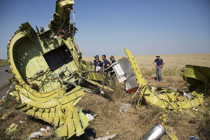 Australian and Dutch investigators, along with officials from the Organization for Security and Cooperation in Europe, traveled to the crash site outside the village of Hrabove in the Donetsk region and have set up base camp at a chicken farm. The international team will comb the rural area for human remains and the plane's debris. Hours before they arrived, pro-Russian separatist rebels killed at least 10 Ukrainian solders during an ambush in a town located close to the site of the crash, despite a tentative cease-fire declared between both sides around the crash zone.