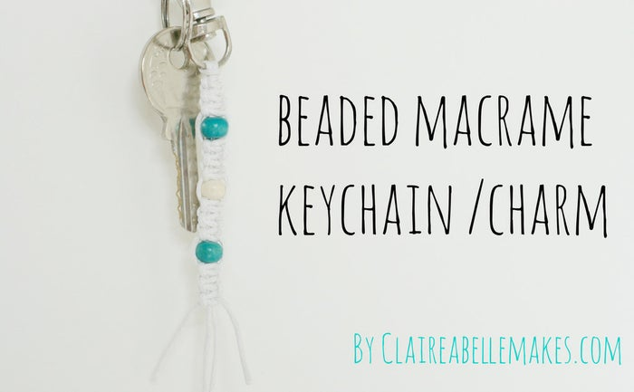 ...who got the keys to the Jeep? Make a quick beaded keychain to add a little visual aid to your morning-rush key-finding endeavors.