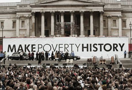 live8 make poverty history Focus: can the celebrity super-rich really make poverty history richard curtis, founder of comic relief, on how he persuaded bob geldof to stage live8.