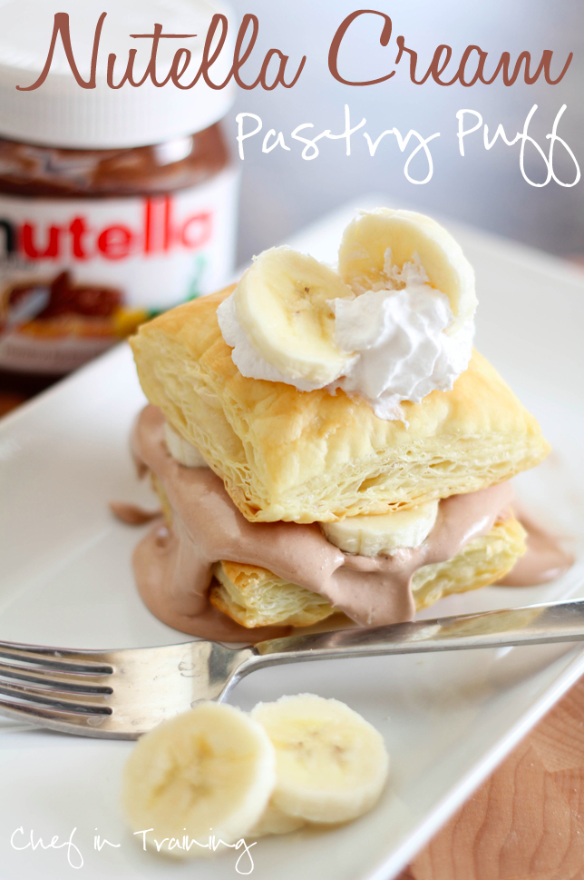 Normally I'm against mixing anything with Nutella because it's ~already perfect~. But I'll make an exception for Cool Whip, if only because the creamy combo makes it that much easier to pile spoonfuls into these puffs. Get the recipe.