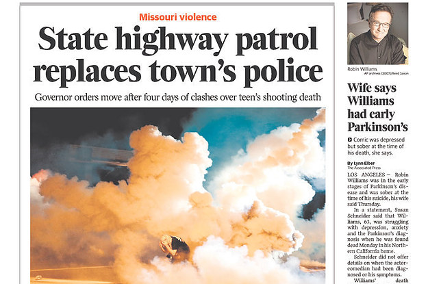 How 28 Local Newspaper Front Pages Across America Covered Ferguson, Missouri