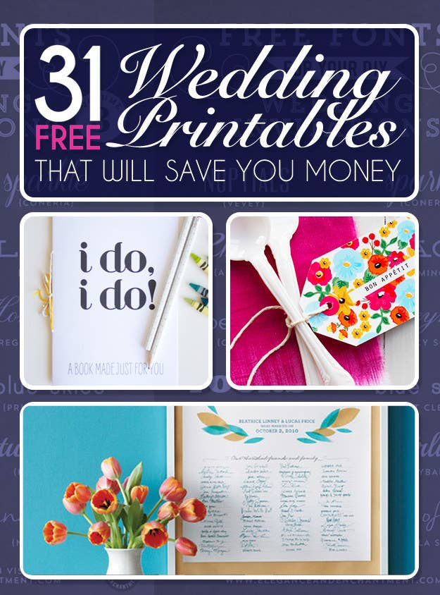 Free Wedding Printables.31 Free Wedding Printables Every Bride To Be Should Know About