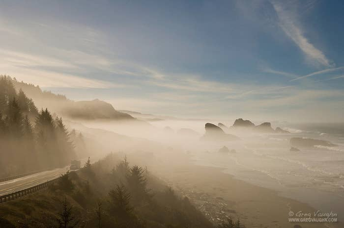 The Northern Section of Route 101 slices through beautiful evergreen forests and next to one of the world's most loved coasts. Spots like Cape Sebastian and the famous Haystack Rock that erupts Two hundred and thirty five feet above Cannon Beach make the coast unique and there are few better ways to enjoy it than from the road.