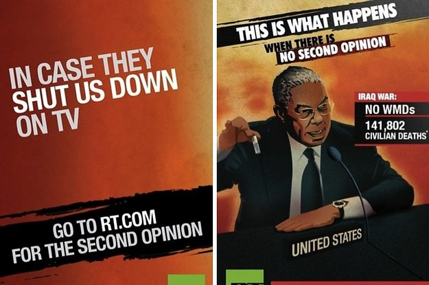 Russia Today's New Ad Campaign Suggests It Could Have Prevented The Iraq War