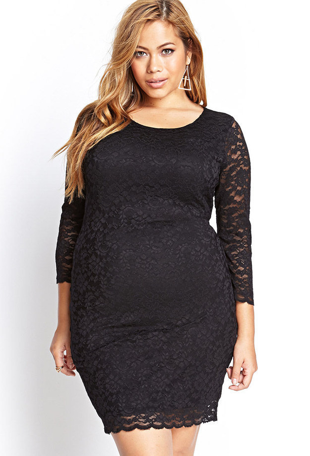 Long sleeve black dress forever 21