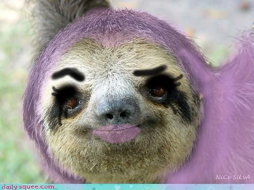 Makeup Ideas sloth makeup : Sloth makeup tutorial : funny