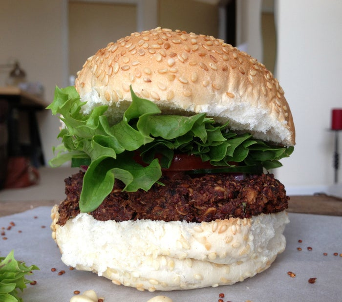 Who doesn't love a veggie burger? These burgers will stay fresh in the fridge for a week, making them a perfect lunch snack. View the full recipe here.