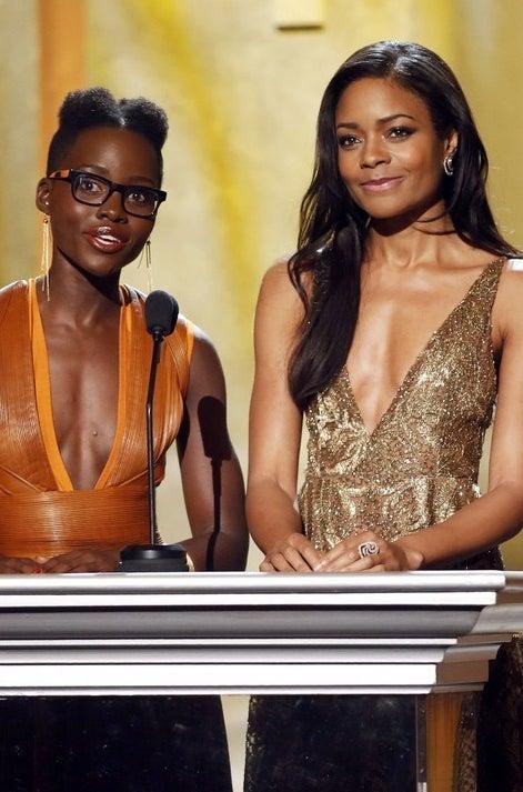 Lupita Nyong'o and Naomi Harris