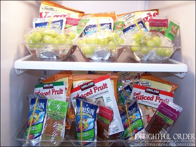 Organize snacks for each day ahead of time.