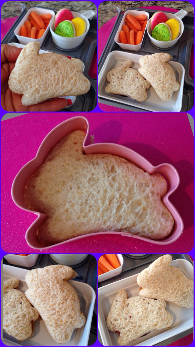 Use cookie cutters to cut sandwiches into fun shapes (and get rid of crusts).