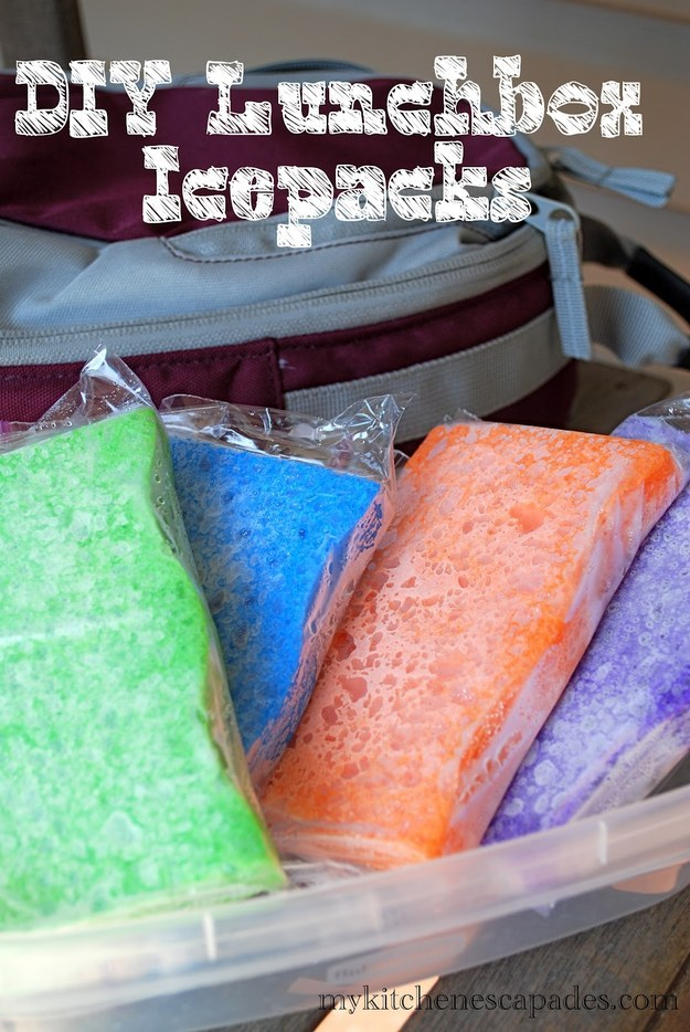You can also freeze a clean, wet sponge to use as an icepack.