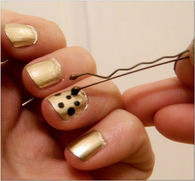 For DIY dots, just use a bobby pin.