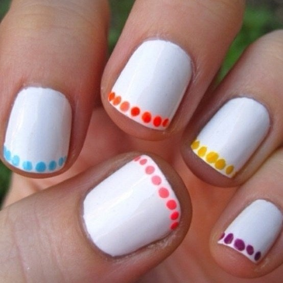 For A Cool Touch Just Do A Line Of Polkadots Around The Edge Of Your Nail