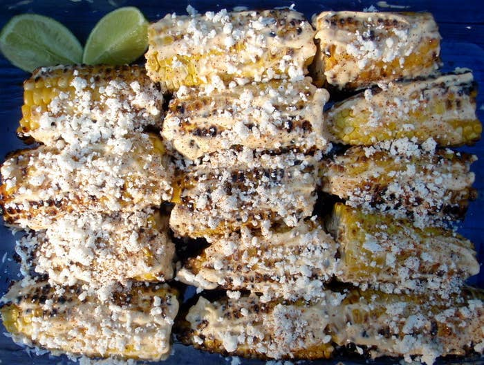 No one is arguing that butter on corn is a bad idea, but cheese on corn results in grilled elote, which results in a party in your mouth. Full recipe here.